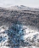 Les montagnes d'Ural en Russie en hiver Image stock