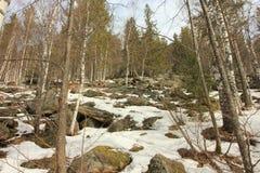 Les montagnes d'Ural Stationnement national Taganay Colline à deux têtes de montagne Photo stock
