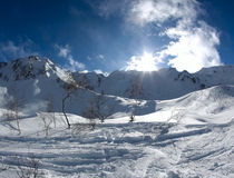 Les montagnes dans Krasnaya Polyana Photo stock