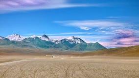 Les montagnes dans Siloli abandonnent, Bolivien Altiplano, Amérique du Sud Photo libre de droits
