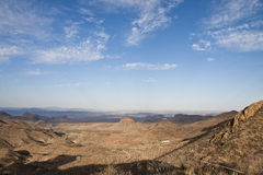 Les montagnes de Chisos dans la grande courbure Photographie stock libre de droits