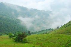 Les montagnes de couleur de brouillard Images stock