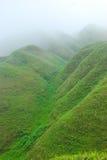 Les montagnes de couleur de brouillard Image stock