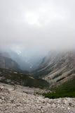 Les montagnes de dolomite Photos stock