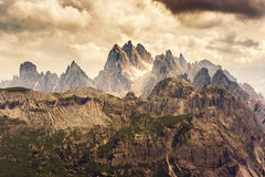 Les montagnes de dolomite Photo stock