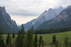 Les montagnes de dolomite Image libre de droits