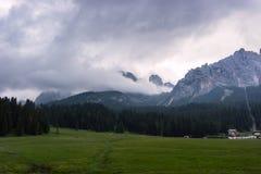 Les montagnes de dolomite Photos libres de droits