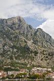 Les montagnes de Kotor photo libre de droits