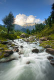 Les montagnes de l'Himalaya coulent l'horizontal Photographie stock libre de droits