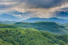 Les montagnes de la Russie, Caucase, Kabardino-Balkarie Le formatio Photographie stock libre de droits