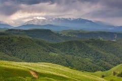 Les montagnes de la Russie, Caucase, Kabardino-Balkarie Le formatio Photos libres de droits