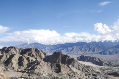 Les montagnes de Leh, Ladakah Photo stock