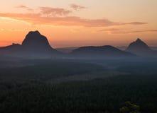 Les montagnes de serre Image stock