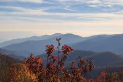 Les montagnes de Smokey, espace récemment découvert, webb donnent sur Photographie stock libre de droits