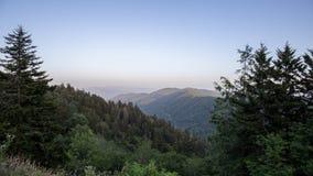 Les montagnes fumeuses grandes Photographie stock libre de droits