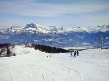 Les montagnes Megeve, France photo stock