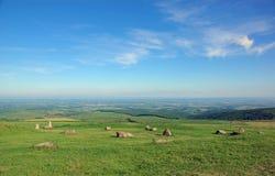 Les montagnes ont appelé Naitai Kogen Bokujo Images libres de droits