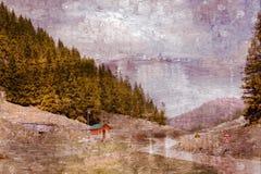 Les montagnes peintes Photo libre de droits