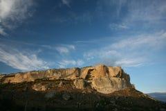 Les montagnes s'approchent du Chufut-chou frisé Bakhchisaray Crimée Images stock