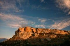 Les montagnes s'approchent du Chufut-chou frisé Bakhchisaray Crimée Images libres de droits