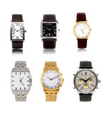 Les montres des différents hommes réglés image stock