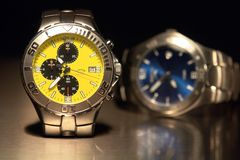 Les montres des hommes Photo stock