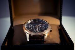 Les montres des hommes chers Photo libre de droits