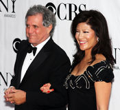 Les Moonves and Julie Chen. CBS President Les Moonves and wife Julie Chen a CBS television personality, arrive on the red carpet at the 64th Annual Tony Awards Royalty Free Stock Image