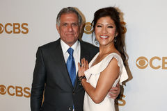 Les Moonves, Julie Chen Lizenzfreie Stockfotos