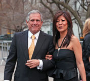 Les Moonves and Julie Chen Stock Images