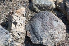 Les morceaux de lave Cratères du monument national de lune, Idaho Photographie stock libre de droits