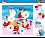 Les morceaux de match déconcertent avec Santa Characters illustration stock