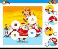 Les morceaux de match déconcertent avec Santa Claus illustration de vecteur