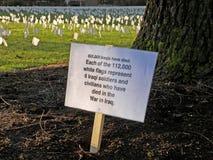 Les morts de guerre Images libres de droits