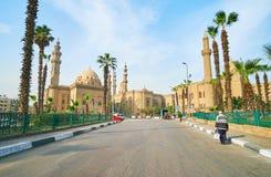 Les mosquées dans la place d'EL-Deen de salh, le Caire, Egypte photos libres de droits