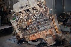 Les moteurs diesel ont longtemps été en activité Photographie stock libre de droits