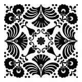 Les motifs hongrois sont en forme de place Image stock