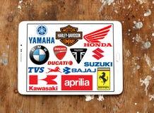 Les motos fabrique des logos et des marques Photo libre de droits