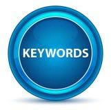 Les mots-clés regardent le bouton rond bleu illustration de vecteur