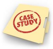 Les mots d'étude de cas ont embouti le document d'exemple de dossier de dossier de Manille illustration libre de droits