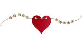 Les mots d'Allemand pour tout l'amour et un coeur sur une corde Photos libres de droits
