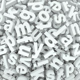 Les mots d'alphabet de fond de pêle-mêle de lettre ont renversé le désordre Photos libres de droits