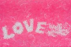 Les mots d'amour arrangent par la perle Images libres de droits
