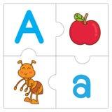 Les mots de match de puzzle denteux - A Photo stock