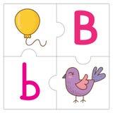 Les mots de match de puzzle denteux - B Images stock