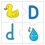 Les mots de match de puzzle denteux - D Photos stock