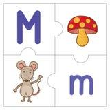 Les mots de match de puzzle denteux - M Photos libres de droits