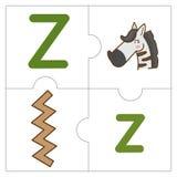 Les mots de match de puzzle denteux - Z Photo libre de droits