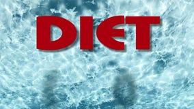 Les mots vous suivent un régime peuvent le faire sur le fond de l'eau bleue fait dans le lumion illustration de vecteur