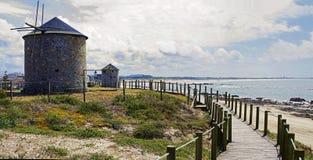 Les moulins à vent dans Parque naturel font Litoral Photographie stock